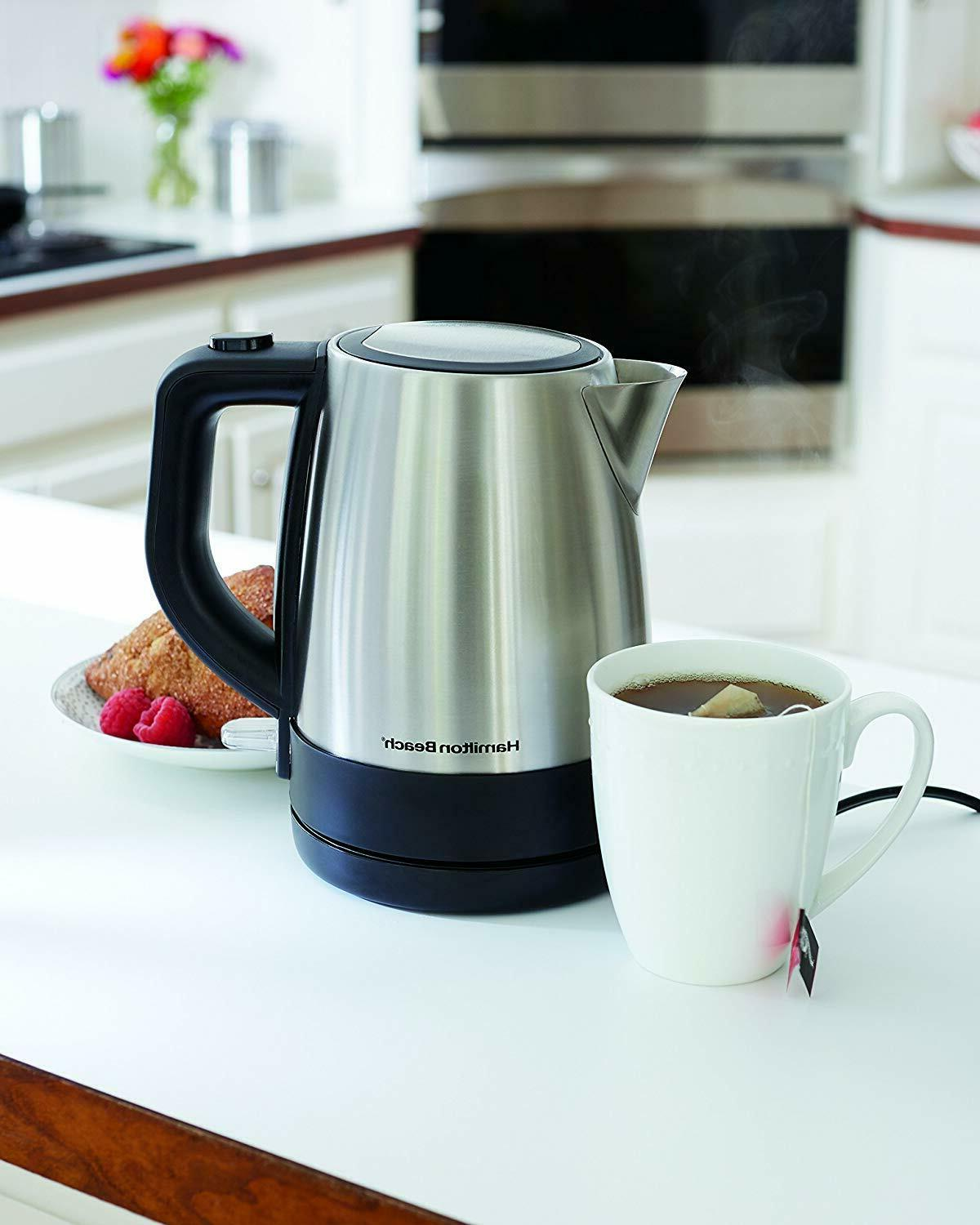 Hamilton Electric Kettle Stainless Steel Mesh Dry