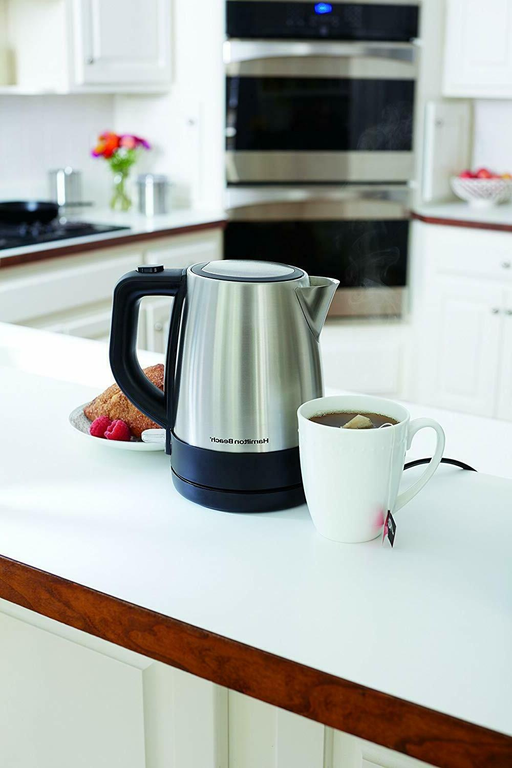 Hamilton Electric Kettle 1L Stainless Mesh