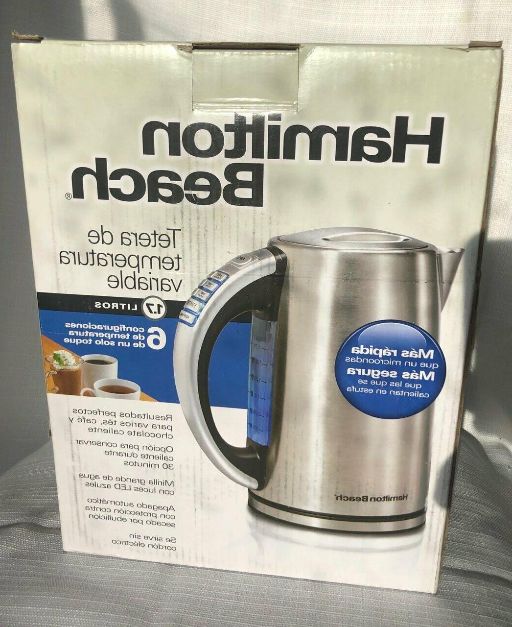 41020 electric kettle 1 7 l stainless