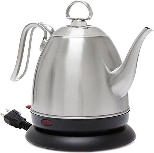 Chantal ELSL37-03M BRS Mia Ekettle Electric Kettle 32 oz Bru