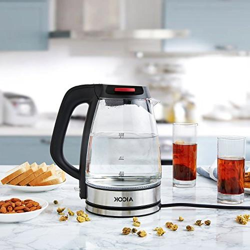 Aicok Electric 1.7L Fast Water Premium Kettle Indicator Cordless Shut Kettle, 1500W