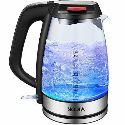 aicok glass electric kettle 17l fast water premium strix the