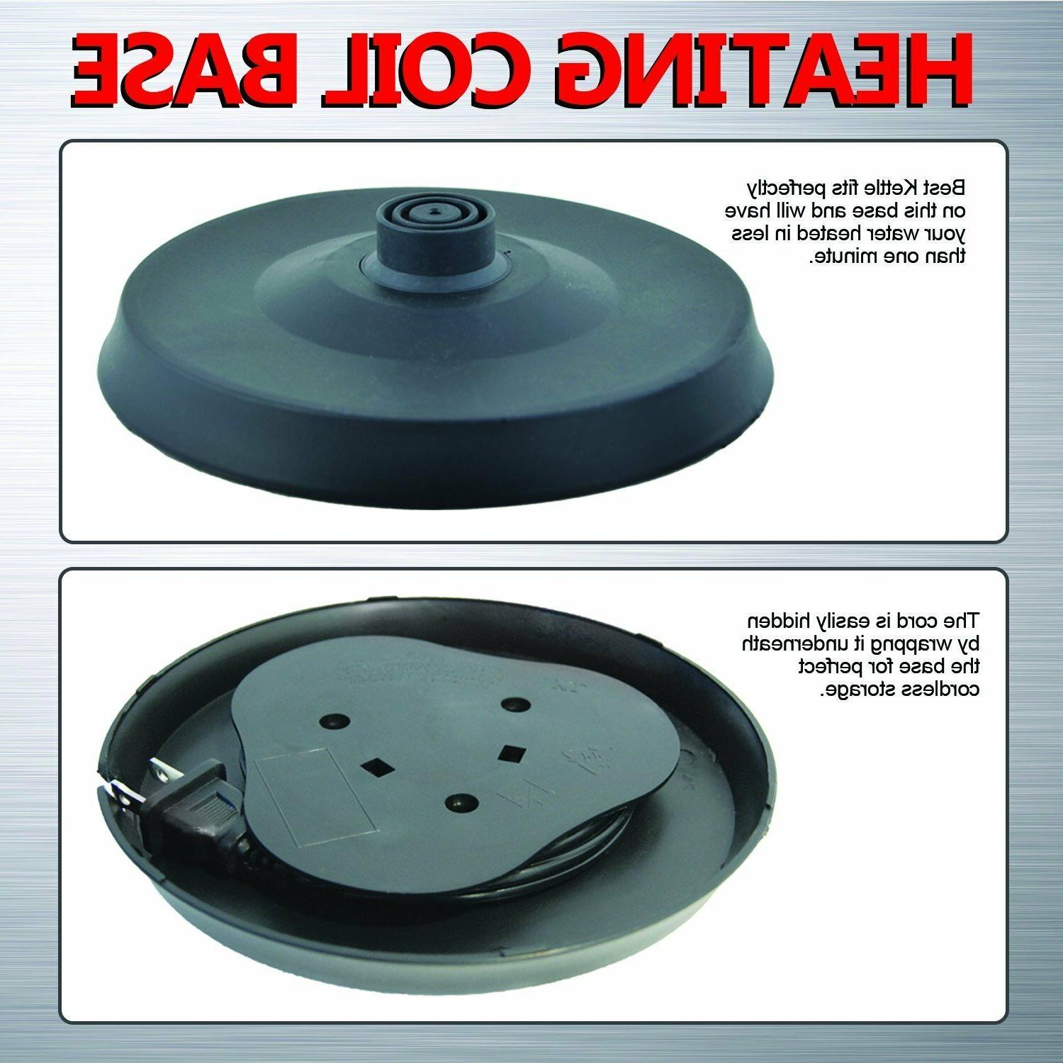 Pot Hot Water BOIL Cordless Stainless 2.0L