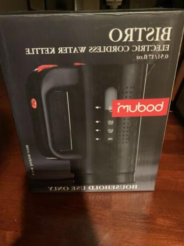 bistro cordless electric water kettle black 17