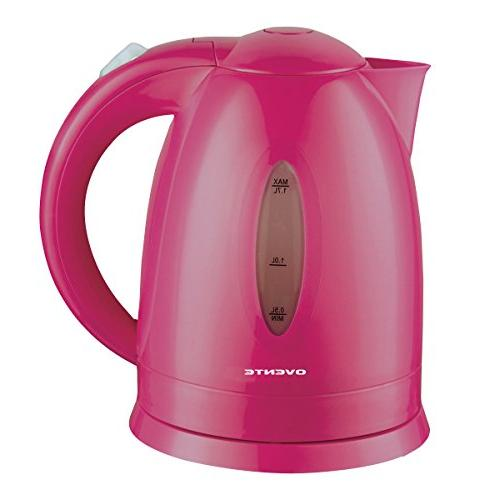 Ovente 1.7 BPA-Free Electric Kettle, Heating Cordless Illuminated, Fuchsia