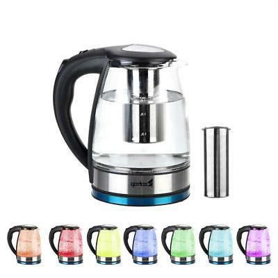 Zokop 1.8L 1500W Electric Kettle Glass Tea Kettle Fast Boili