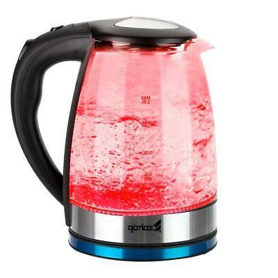 Electric Kettle Glass Boiler Fast Boiling Kettle 1.8L Stainless LED