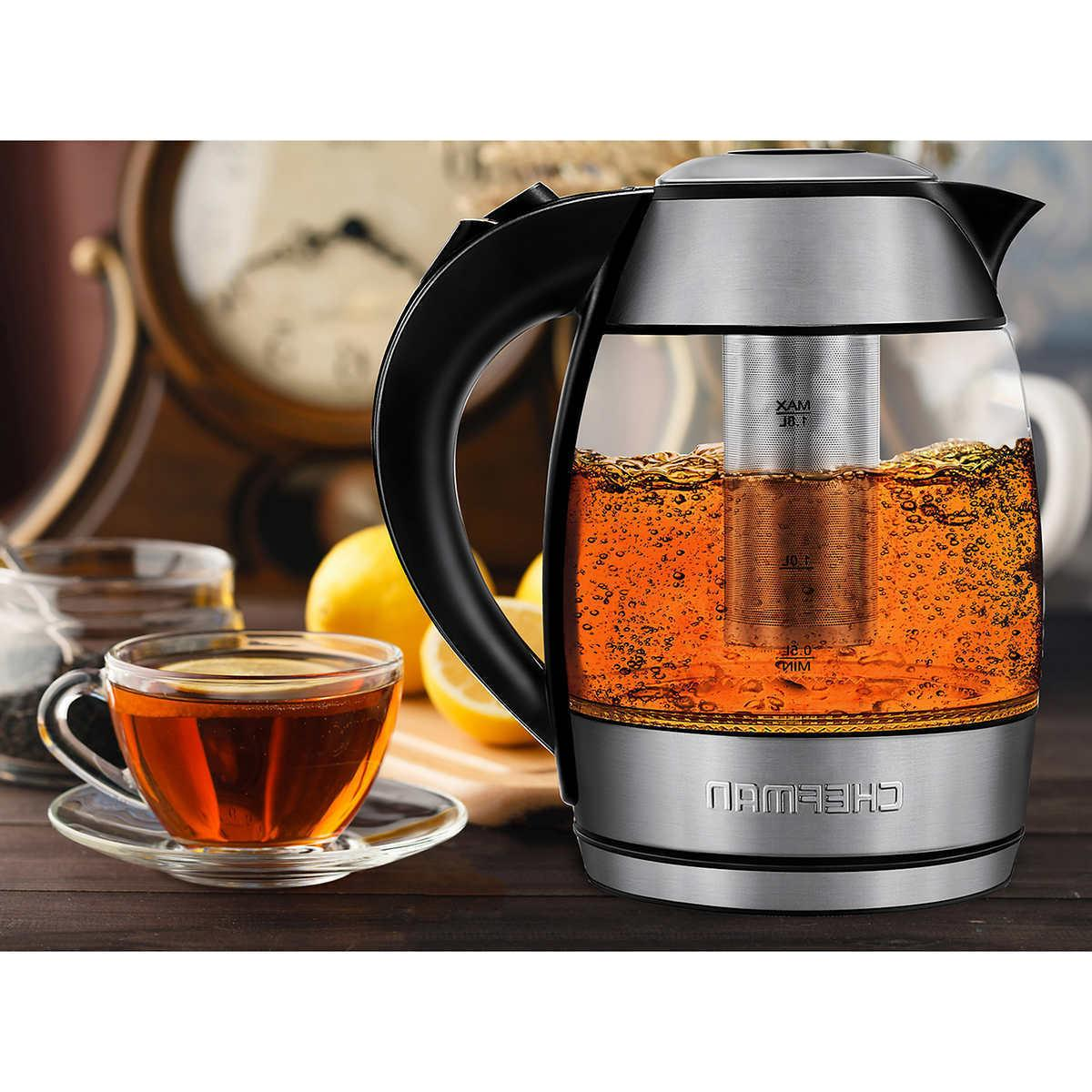 Cordless Electric Glass Kettle With Removable Chefman