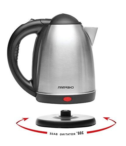 Cordless 1.7 Stainless Electronic Hot Kettle By Kettle, 1.7 L, Pouring