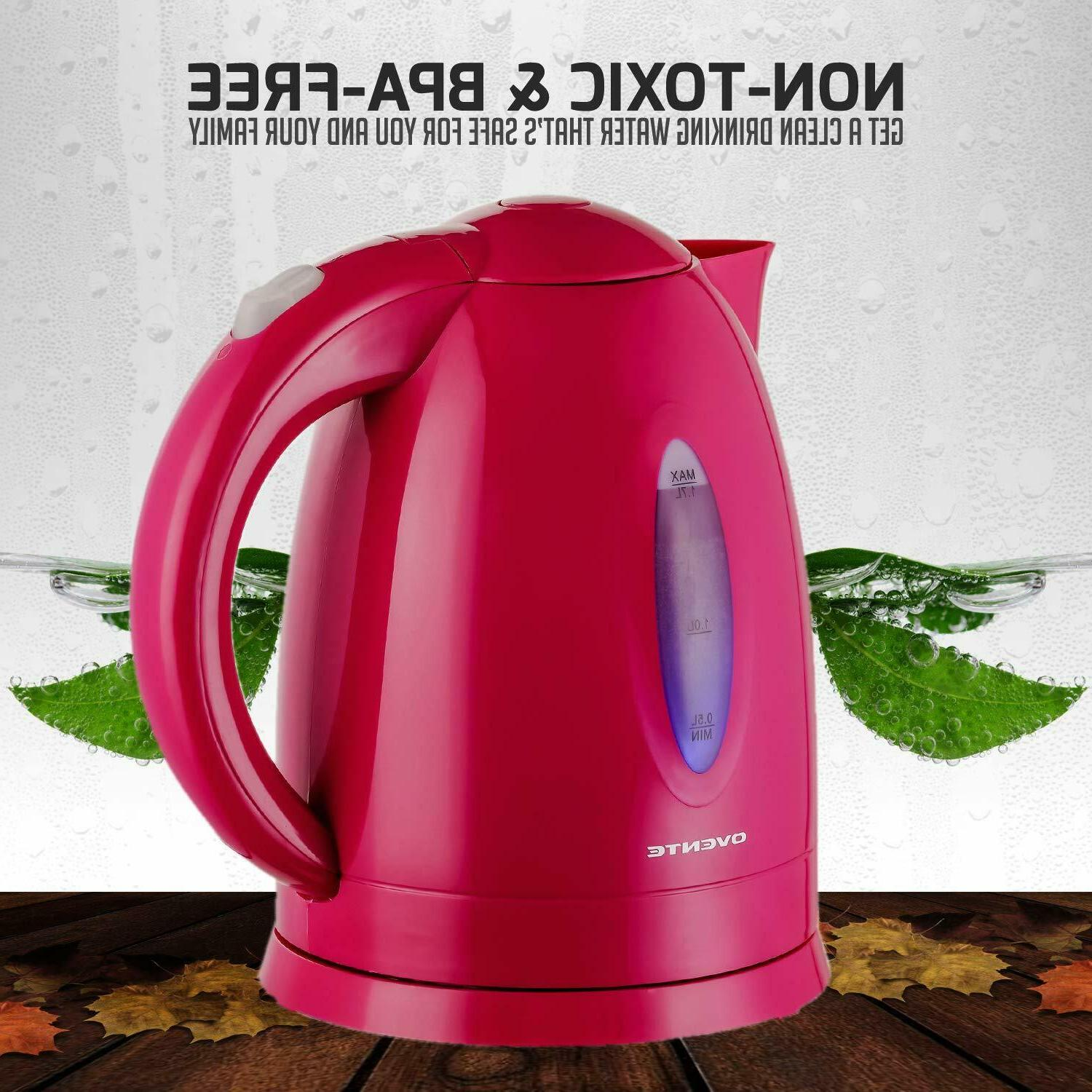 Cordless Electric Kettle Hot Water Fast Boiler 1.7L 1100W