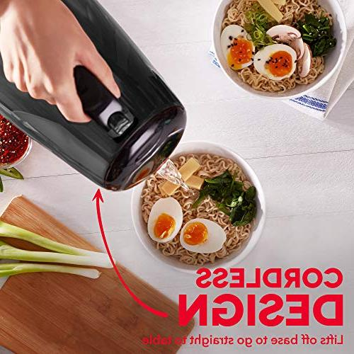Dash DEZK003GY Kettle + Touch Handle, Cordless Carafe + Auto Off for Espresso & More, / 1.7L,