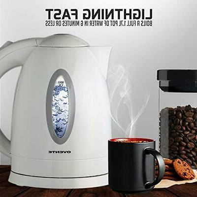 Electric Cordless 1.7 Liter Pot White Tea