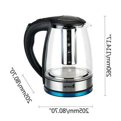 1.8L Glass Water Kettle Colourful Light