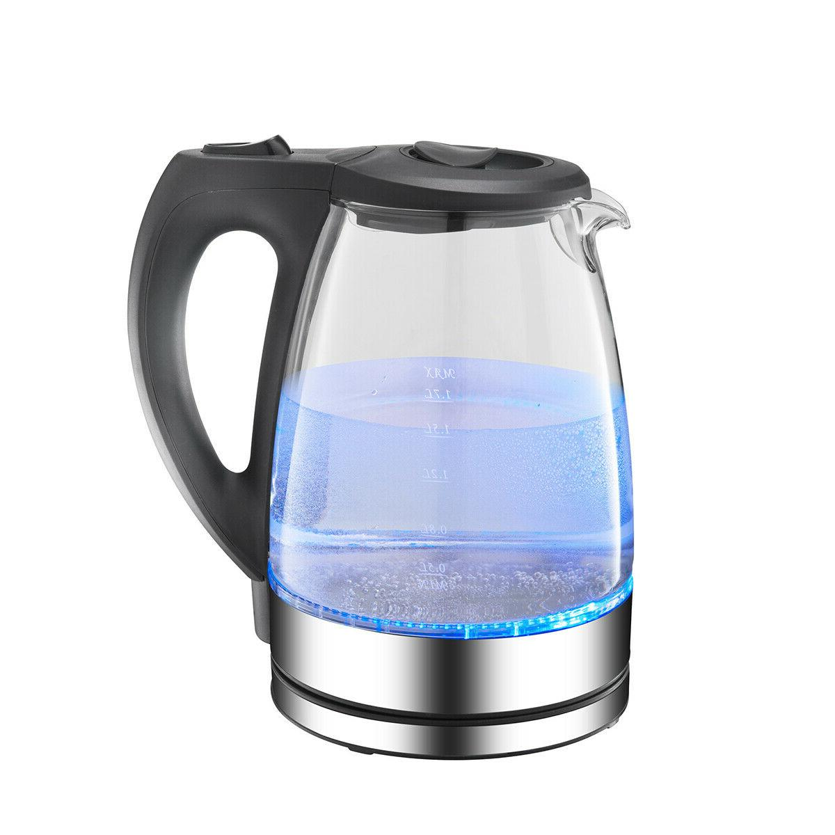 Electric Glass 2200W Cordless Rapid 1.7L Blue Jug Water