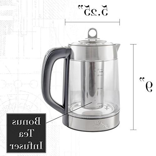 Double Electric with Temperature Spout Filter | Infuser Boiler | 1500W | Cordless for &