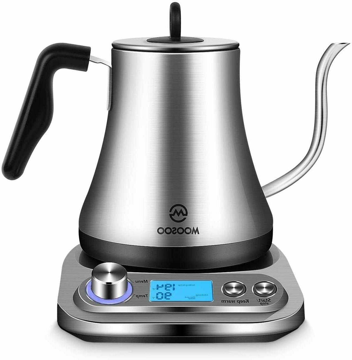 electric gooseneck kettle with temperature control