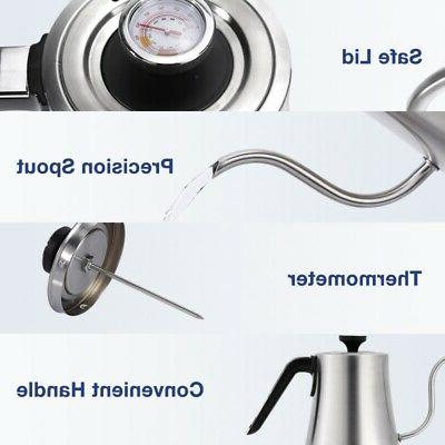 Electric Kettle Control Stainless Pour Coffee