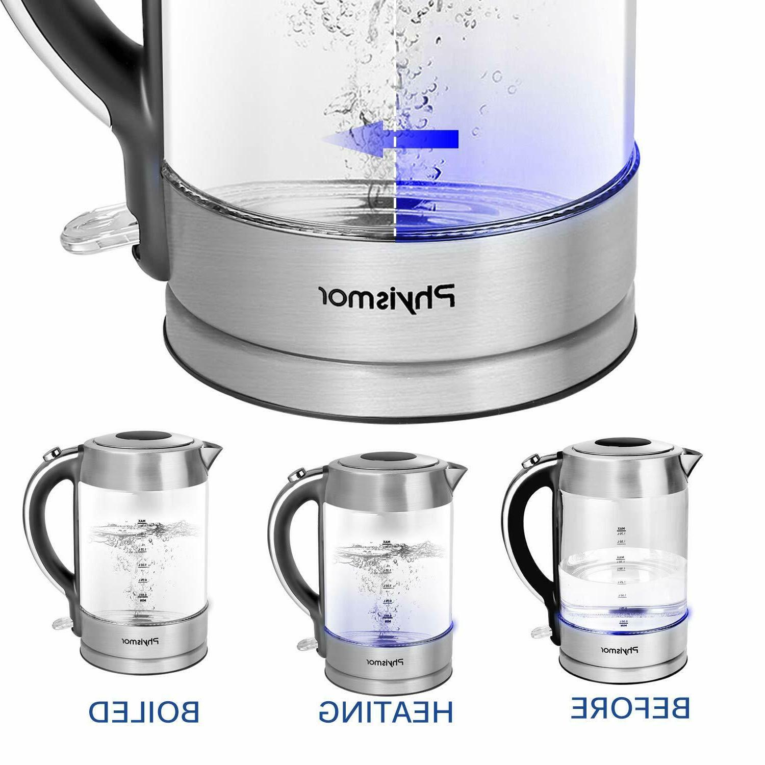Electric Kettle, 1.7 Cordless Water