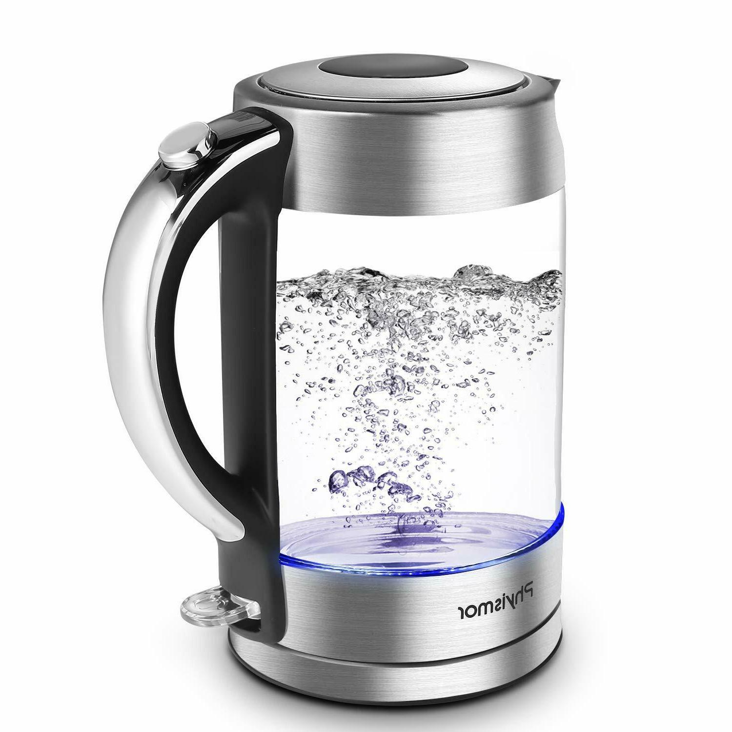 electric kettle 1 7 l cordless glass
