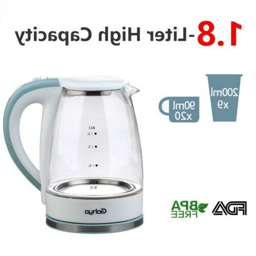 Gohyo Electric Kettle 1500W Glass Electric Tea Kettle for Boiling