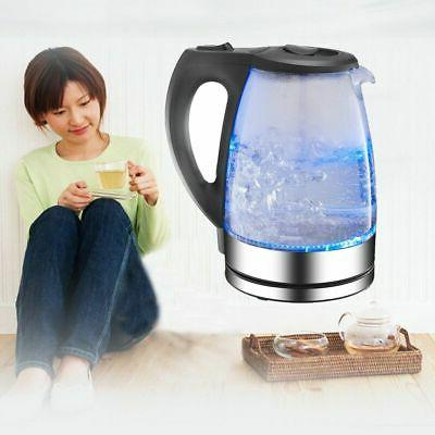 Electric 2200W Rapid Blue LED Water Boiler Home