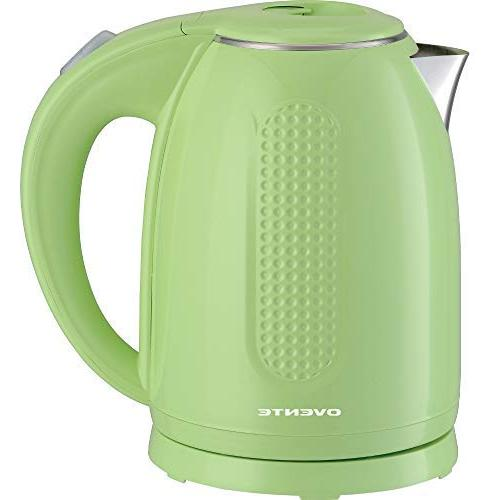 Ovente Kitchen KD64 Double Wall Steel Kettle, Green