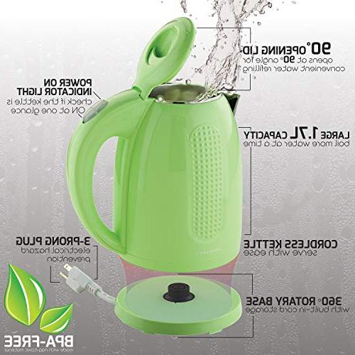 Ovente Kitchen Wall Steel Electric Kettle,