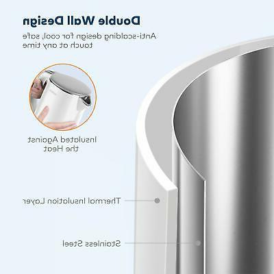Electric Kettle, Miroco Wall 100% Stainless Cool Kettle..