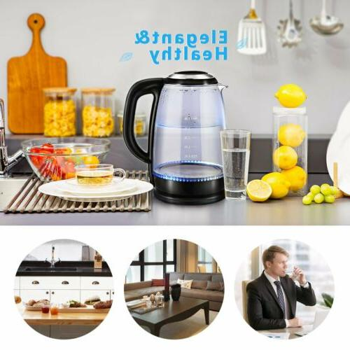 Glass Electric Boiling Tea Water Boiler 1.7Liter