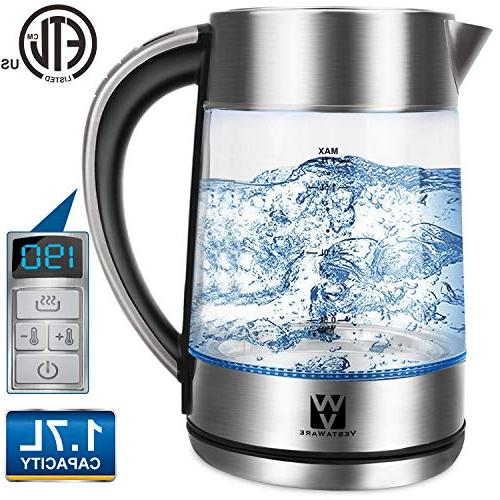 electric kettle glass temperature control