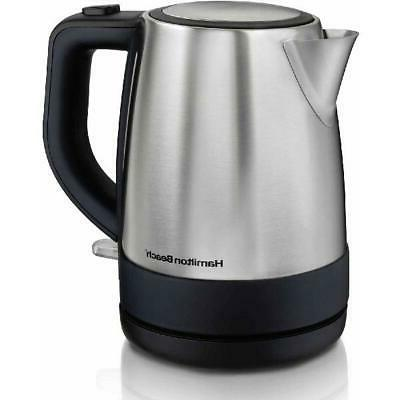 Hamilton Beach Electric Kettle Stainless 1 Liter Hot Water in a Hurry!!