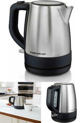 Hamilton Beach Electric Kettle Stainless Steel 1 Liter Hot W