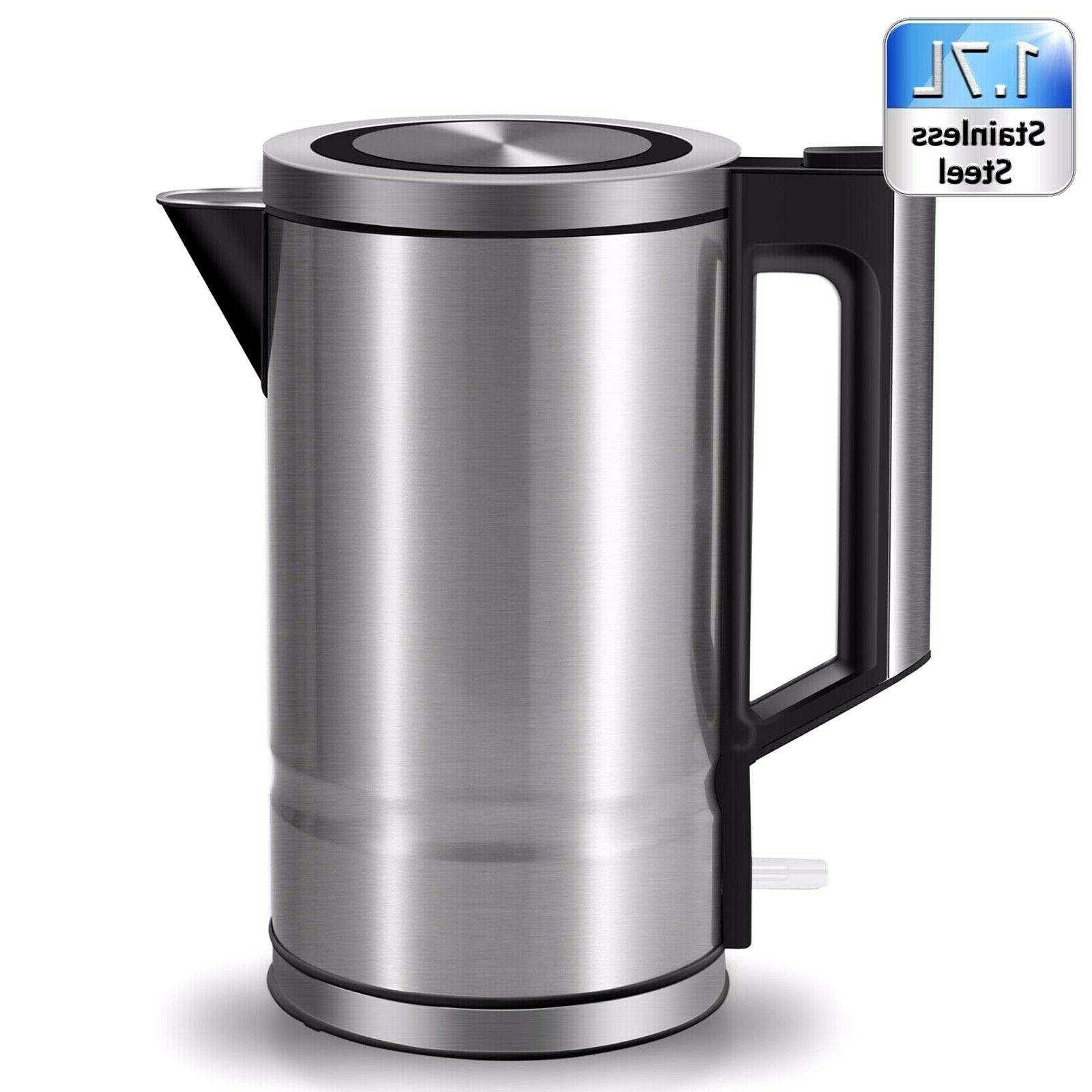 electric kettle stainless steel coffee tea hot