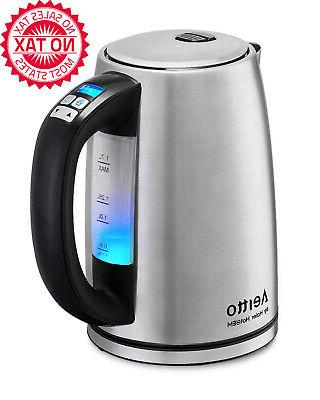 electric kettle temperature control real time temp