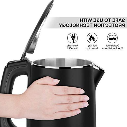Electric Kettle, 1500W Kettle Cool Touch Tea Double