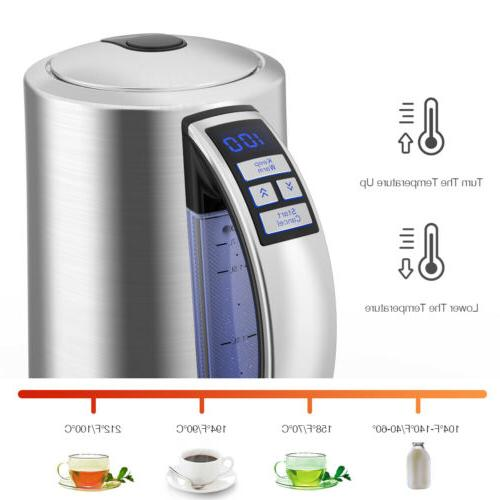 Electric Tea Kettle Hot Water Stainless Steel Pot Fast Boile