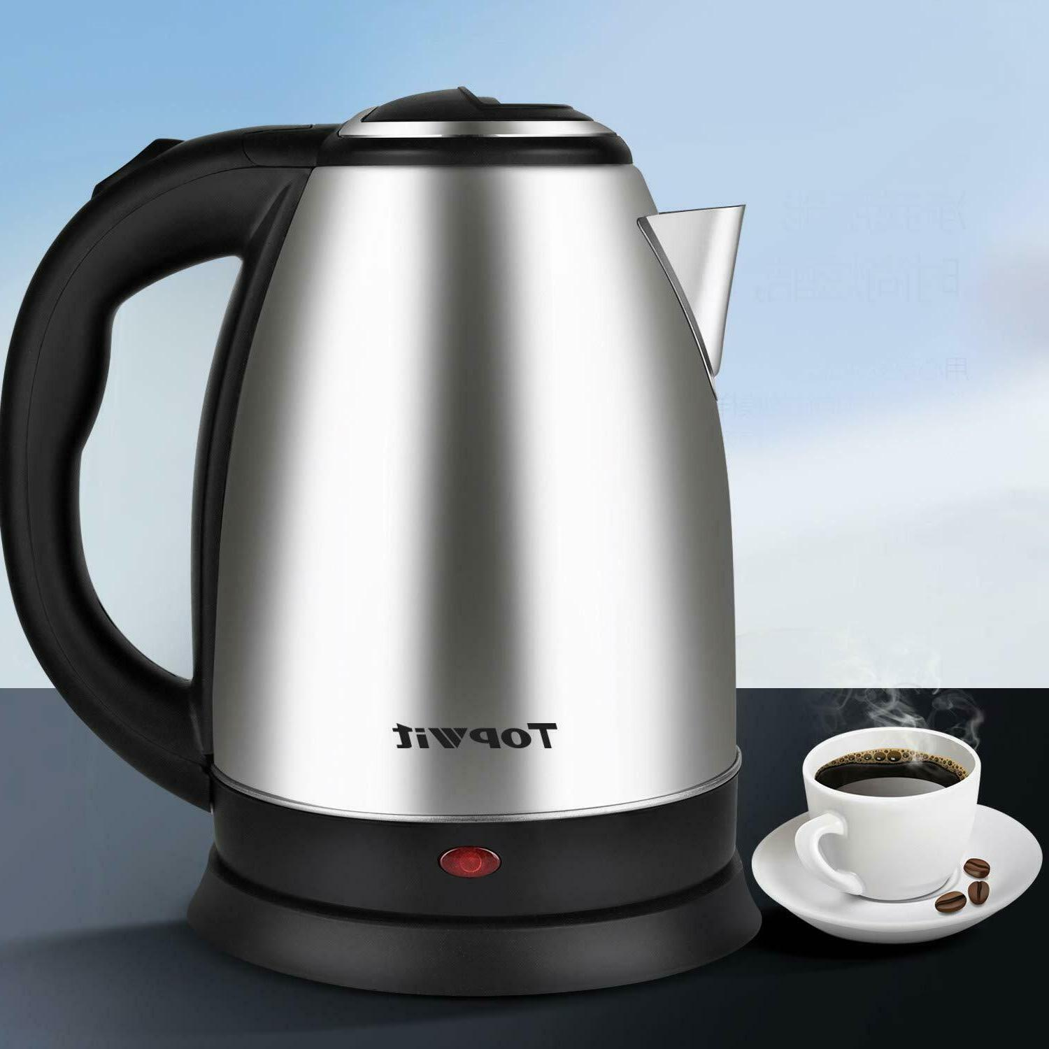 Electric Tea Kettle Small Stainless Steel Cordless Hot Water
