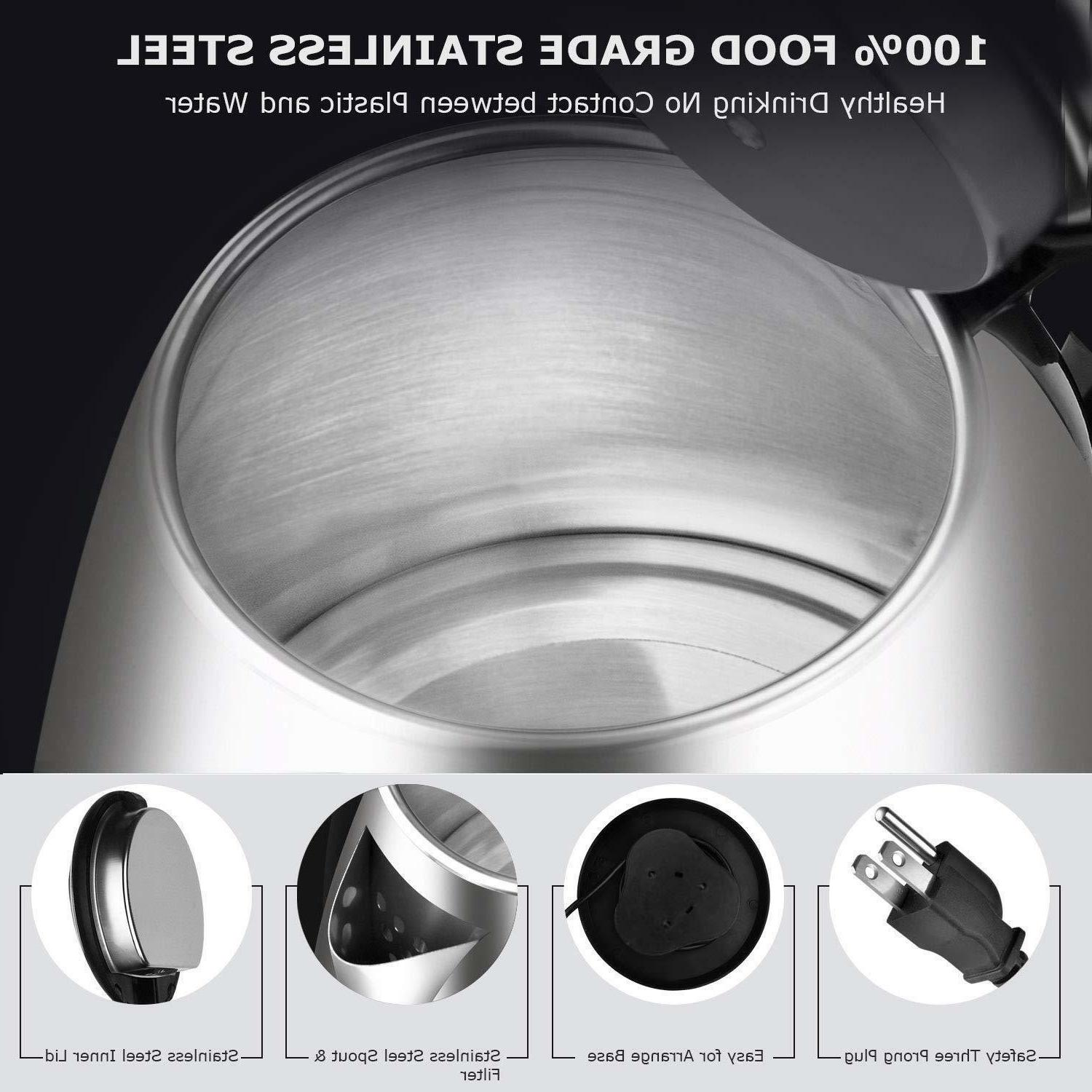 Electric Water Stainless Cordless Pot