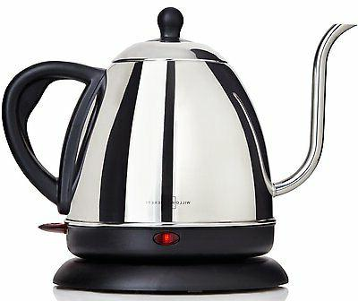 Electric Teapot Gooseneck Kettle Coffee Tea Maker 1 L Stainl