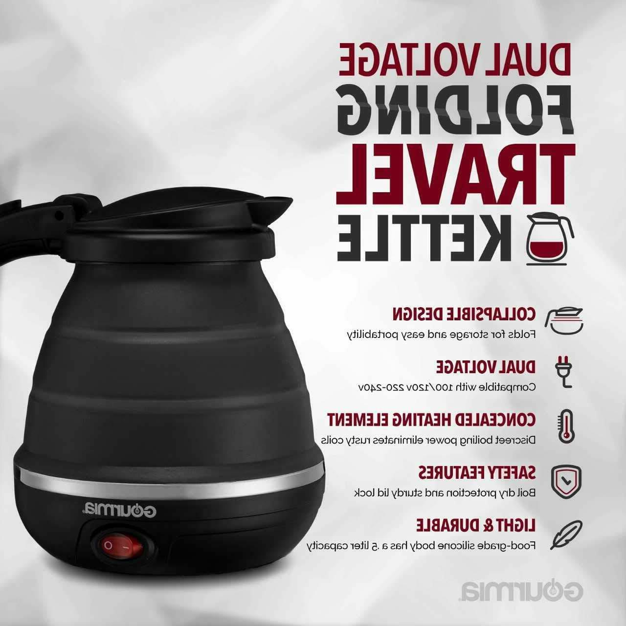Gourmia Travel Electric -Dual Voltage - Water Boiling