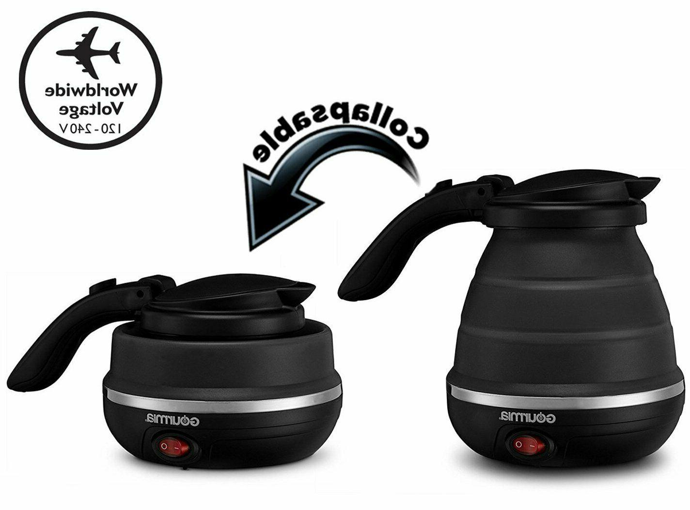 gk320 travel foldable electric kettle dual voltage