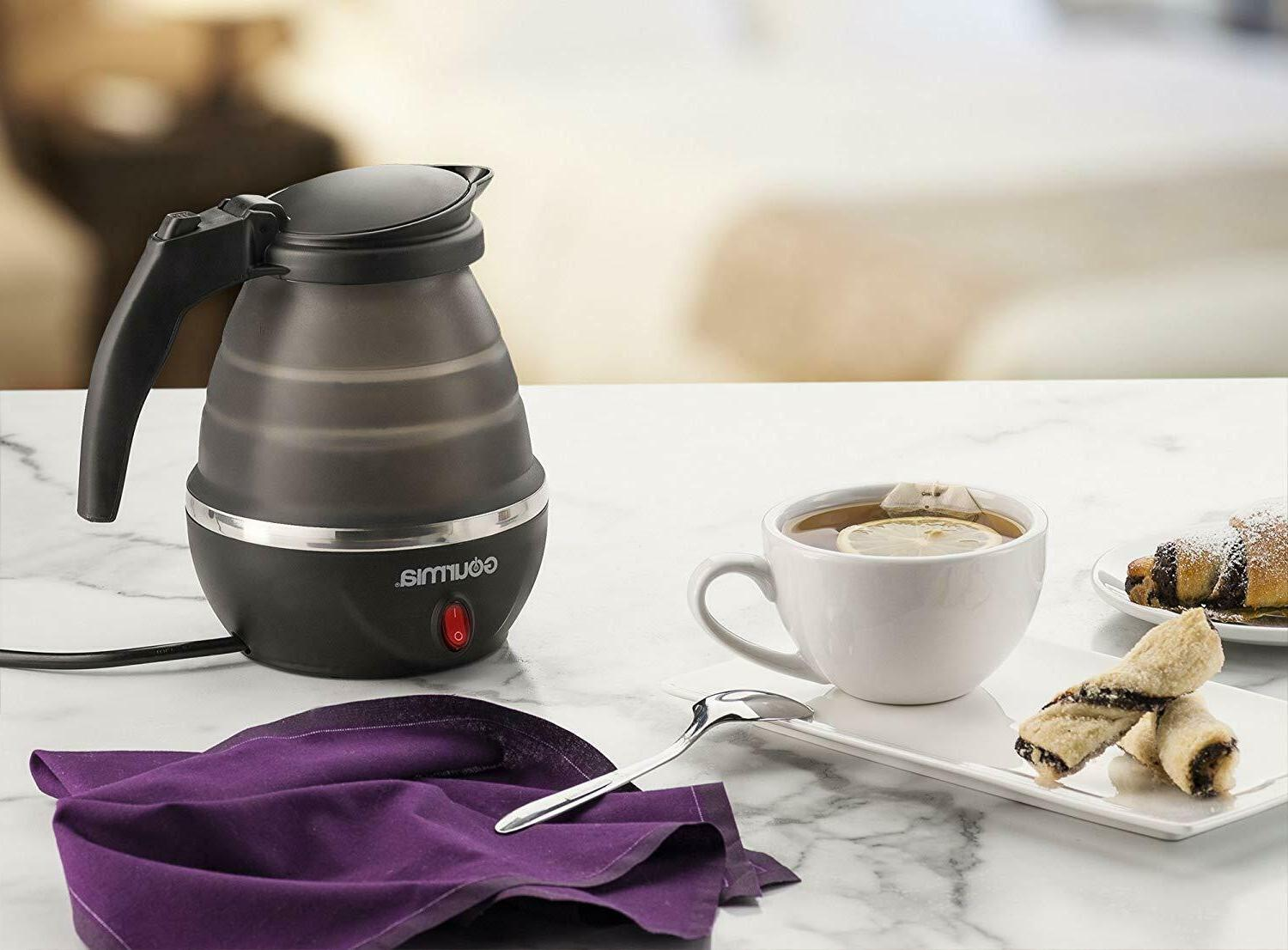 gk320b travel foldable electric kettle dual voltage