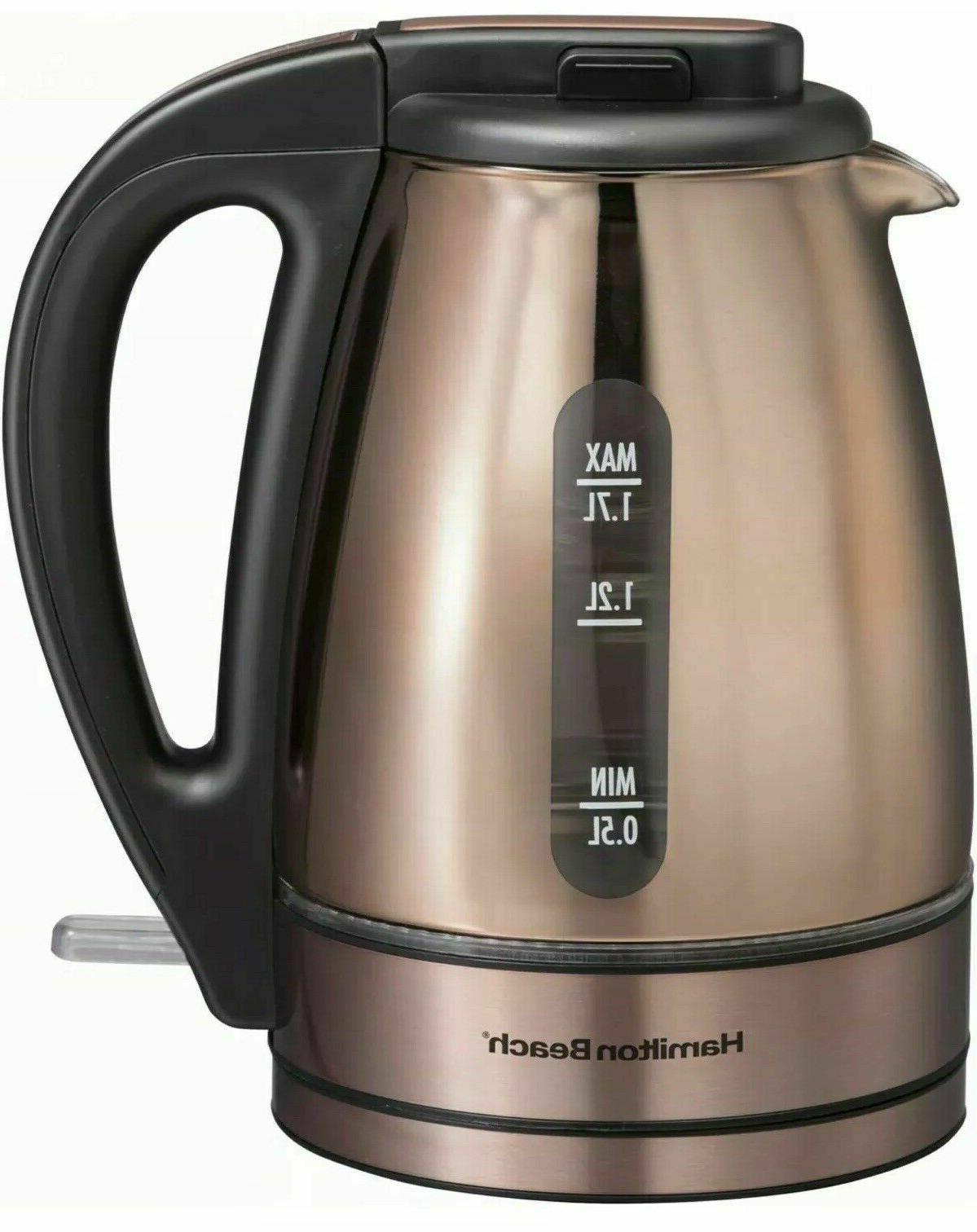 Hamilton 1.7 Liter Copper Plated Kettle,