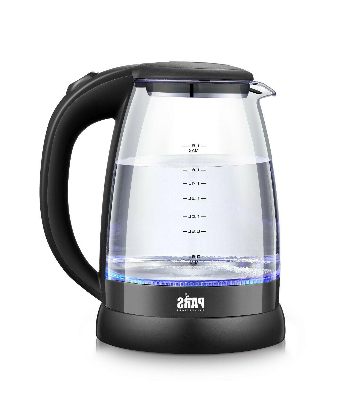 glass cordless electric kettle with led indicator
