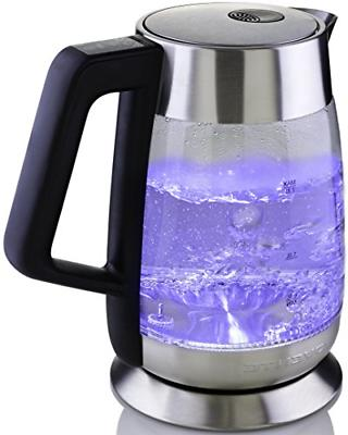 Ovente Glass Electric Kettle 1.8L, Fast Boiling with Tempera