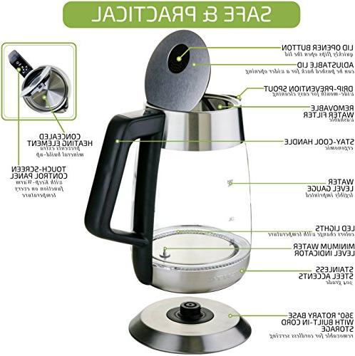 Ovente 1.8L, Fast Temperature Control, BPA-Free Auto Stainless Steel