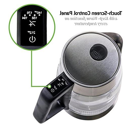 Ovente Kettle 1.8L, Temperature BPA-Free and Auto ), Stainless Steel