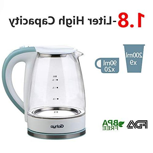 1500W Tea Kettle, Kettle for Fast Boiling, Water Boiler Pot with Auto off and Boil-Dry BPA-Free
