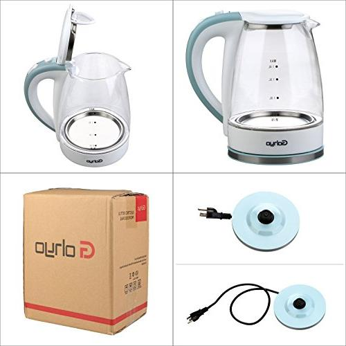 Gohyo Electric 1.8-Liter 1500W Electric Tea Kettle, Water Kettle for Boiling, Water Boiler with Auto Shut off Boil-Dry Protection, FDA BPA-Free