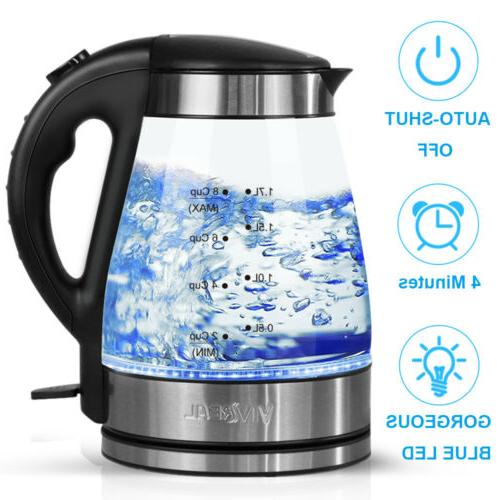 glass electric water kettle 1 7 l